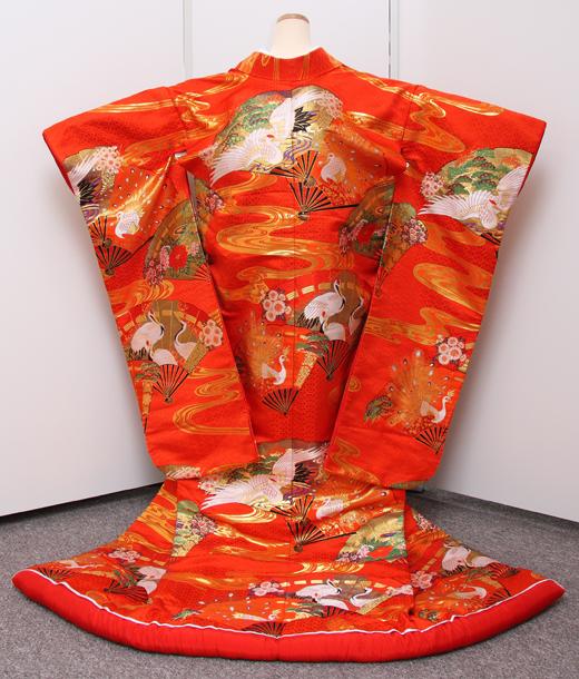 色打掛 鶴の戯れ